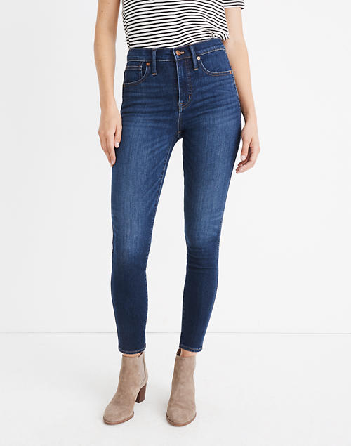"10"" High-Rise Skinny Jeans: Insuluxe Denim Edition in vienna wash image 4"