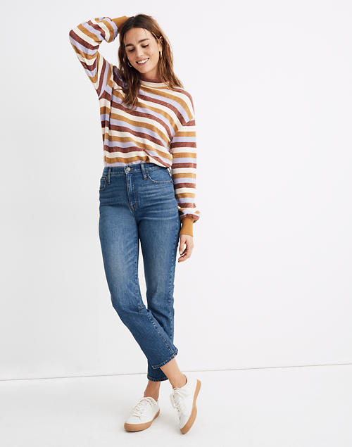 Petite Classic Straight Jeans In Coldbrook Wash by Madewell