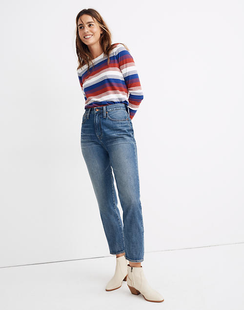 The Tall Momjean In Downey Wash by Madewell