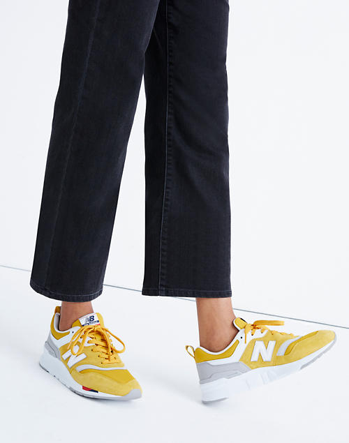 New Balance® 997H Classic Sneakers in Gold Suede