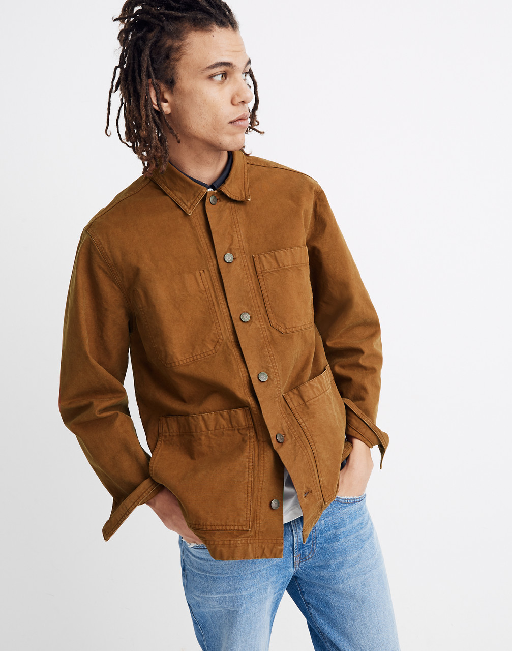 Men's Vintage Jackets & Coats Canvas Chore Jacket $148.00 AT vintagedancer.com
