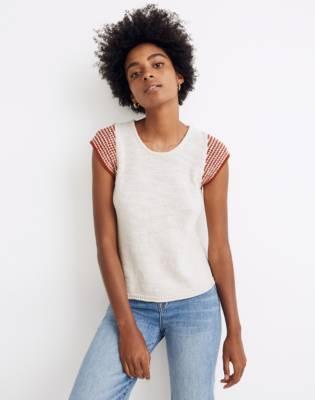 Kimble Stripe-Sleeve Sweater