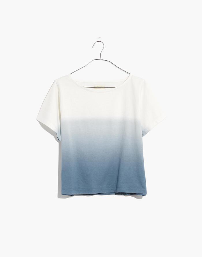 Women's Madewell Groton Stripe Dip Dye Oversize T Shirt