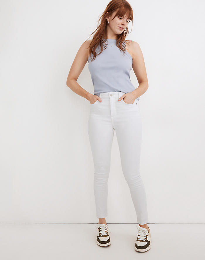 Madewell Curvy High-Rise Skinny Jeans in Pure White