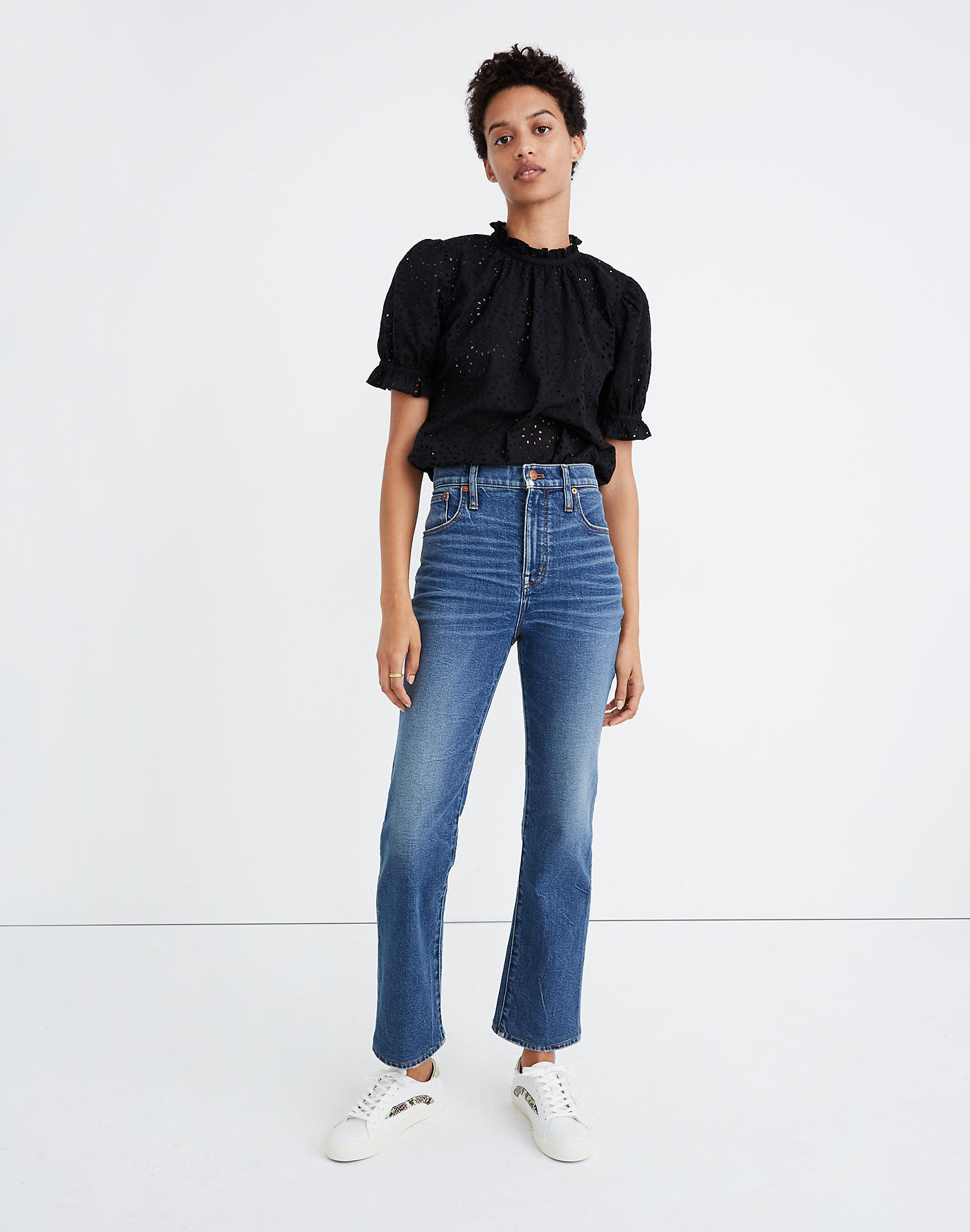 Madewell Tall Slim Demi-Boot Jeans in Sundale Wash