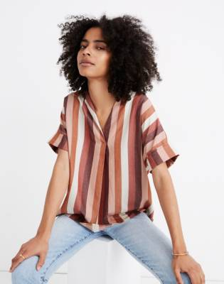 Courier Button-Back Shirt in Munson Stripe