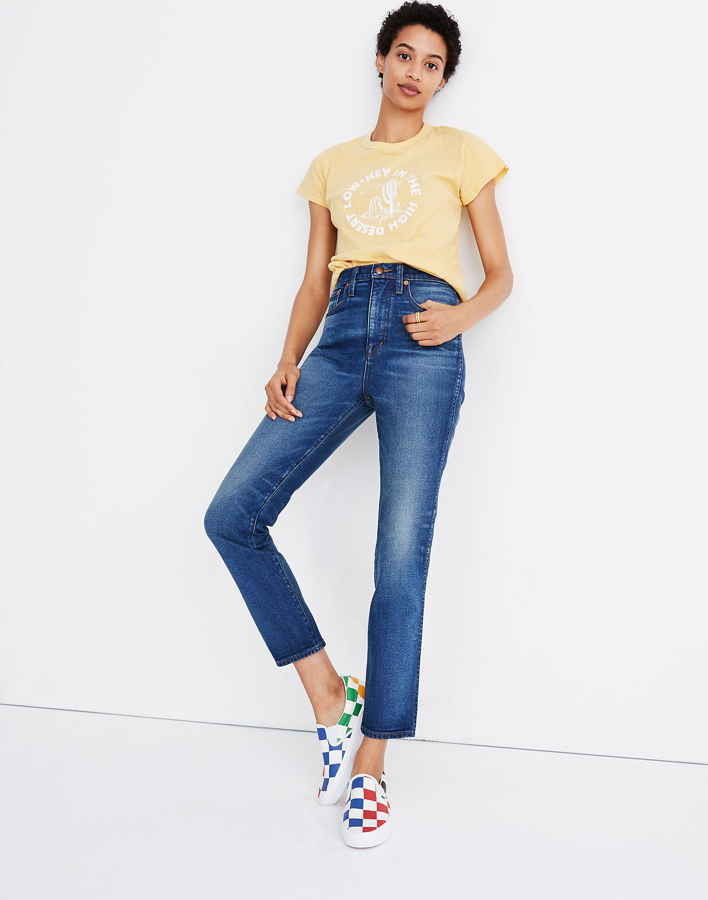Madewell Rivet & Thread High-Rise Stovepipe Jeans in Kingman Wash