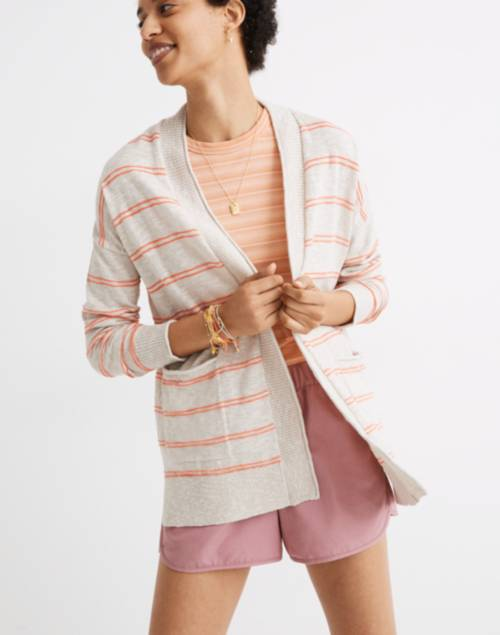 Bradley Cardigan Sweater in Textured Stripe | Madewell