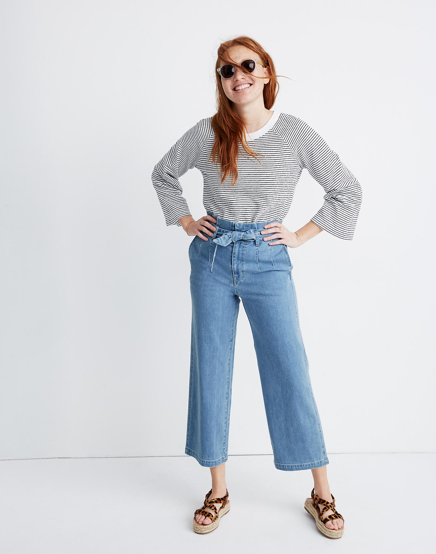 Madewell Paperbag Crop Jeans in Winsford Wash