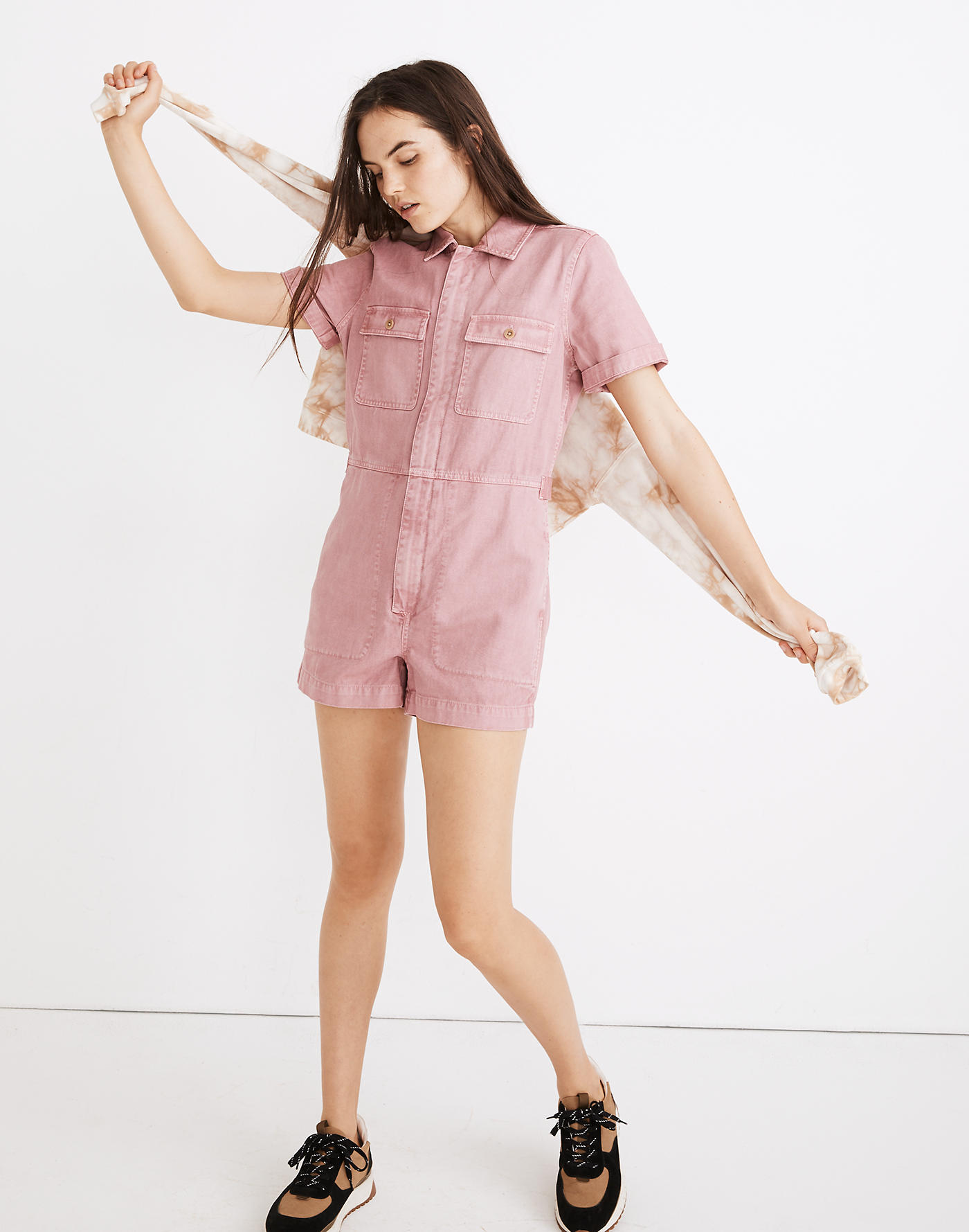 Madewell Garment-Dyed Coverall Romper