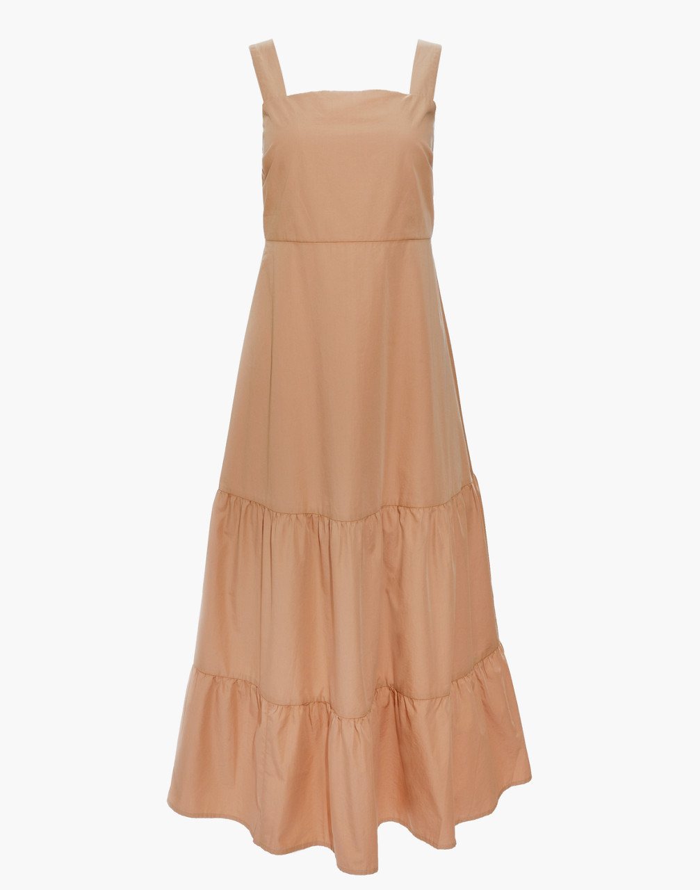Cottagecore Clothing, Soft Aesthetic Button-Back Tiered Sundress $69.99 AT vintagedancer.com