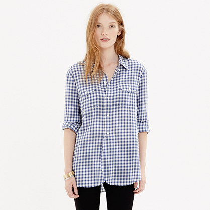 Cargo Workshirt in Blue Gingham