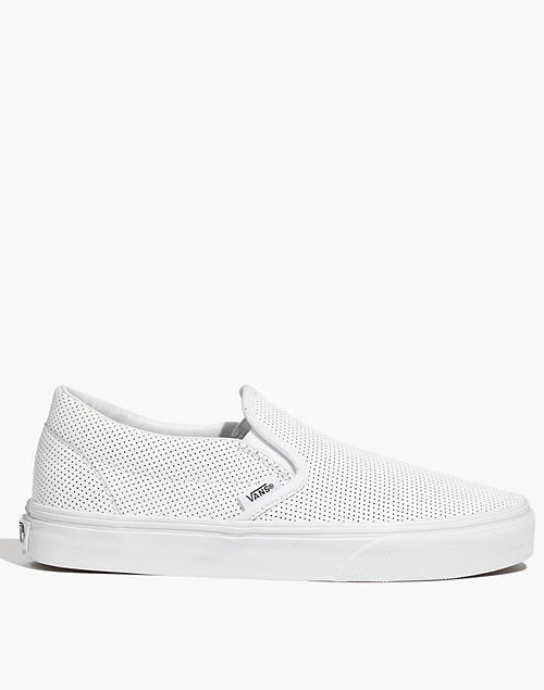 Vans® Classic Slip Ons in Perforated Leather