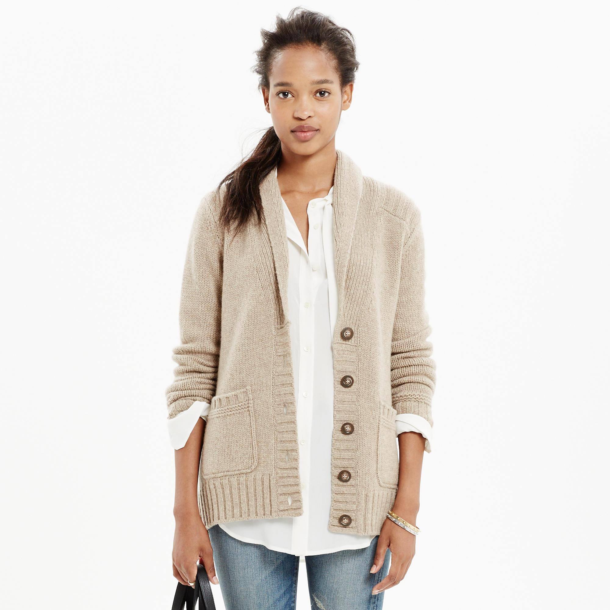 Rib-Collar Cardigan : cardigans & sweater-jackets | Madewell