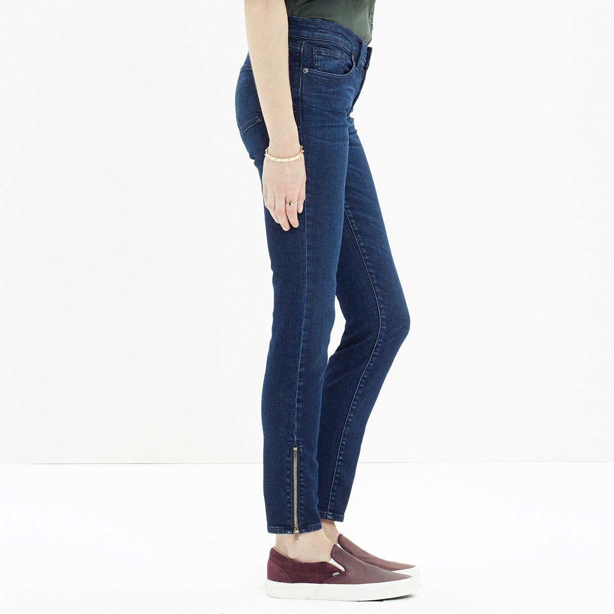 Skinny Skinny Zip Jeans in Edgewater Wash : skinny jeans | Madewell