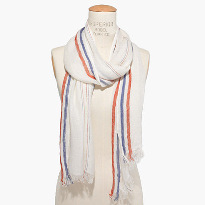 Triomphe Striped Scarf