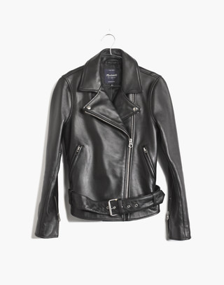 Ultimate Leather Motorcycle Jacket in true black image 4