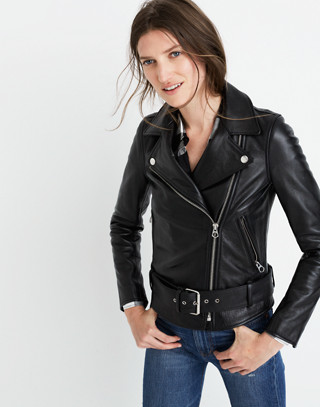 Ultimate Leather Motorcycle Jacket in true black image 1