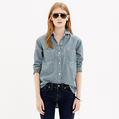The Perfect Chambray Shirt in Wilder Wash