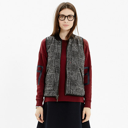 Reversible Quilted Vest in Plaid