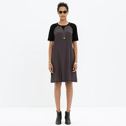 Color block t shirt dress