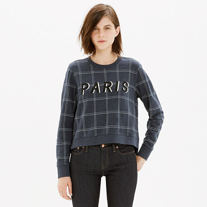 Paris Check Sweatshirt