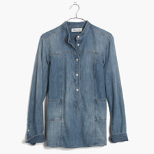 Denim Downshift Top - EVERLY WASH