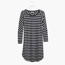 Cointoss Dress in Stripe - HTHR NIGHTFALL