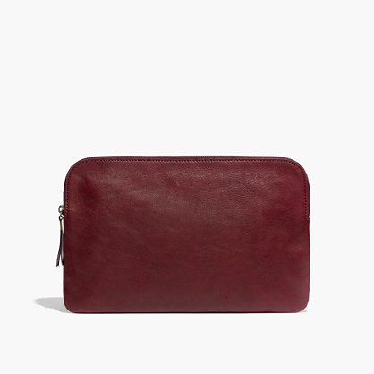 The Large Pouch Clutch in Dark Cabernet