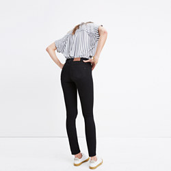 "Tall 8"" Skinny Jeans in Black Frost"