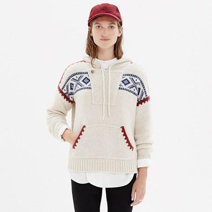 Fair Isle Hoodie Sweater