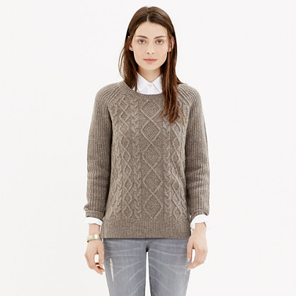 Cable-Front Sweater : pullovers | Madewell