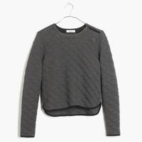 Quilted Crop Sweatshirt