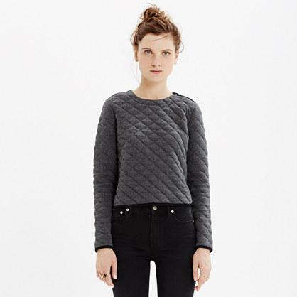 Quilted Crop Sweatshirt : long-sleeve tees   Madewell : quilted sweatshirt - Adamdwight.com