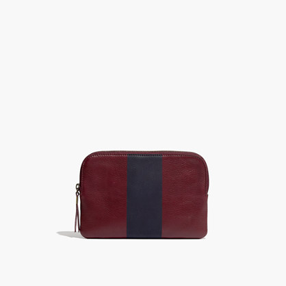 The Medium Pouch Clutch in Paintstripe