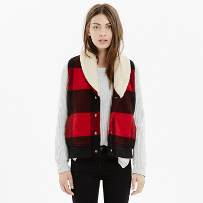Woolrich White® Buffalo Plaid Vest