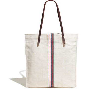 The Simple Tote in Flag Stripe