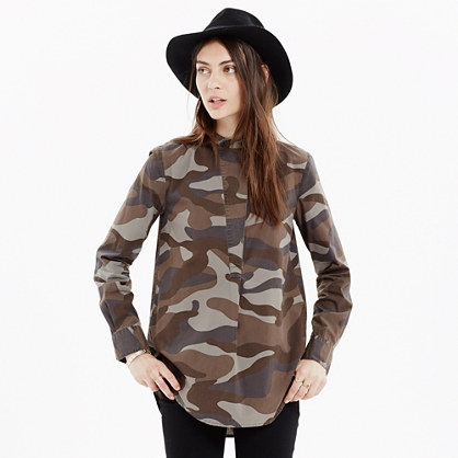 The Perfect Tunic in Cotton Camo