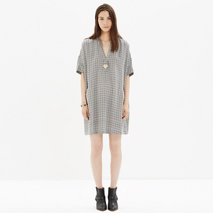Poncho Dress in Elmhurst Check