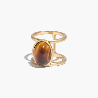 Tiger's Eye Cocktail Ring
