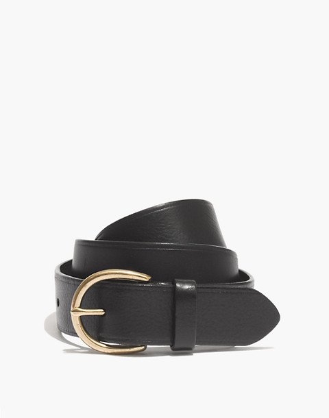 Medium Perfect Leather Belt in true black image 1