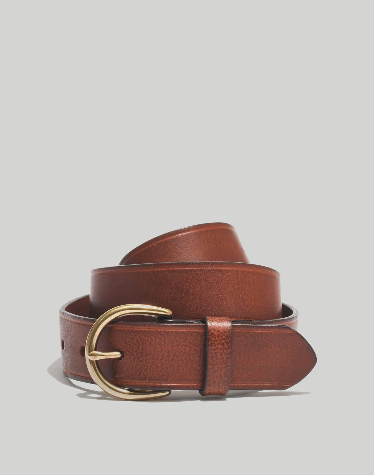 Medium Perfect Leather Belt in pecan image 1