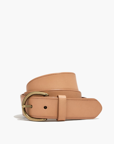 Medium Perfect Leather Belt in linen image 1