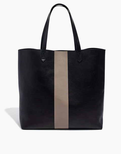 The Paintstripe Transport Tote in true black stripe image 1