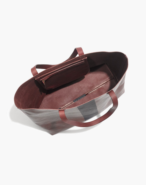 The Paintstripe Transport Tote in dark cabernet stripe image 2
