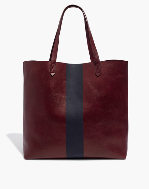 The Paintstripe Transport Tote in dark cabernet stripe image 1