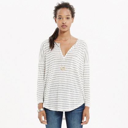 Linen Telegraph Tee in Stripe