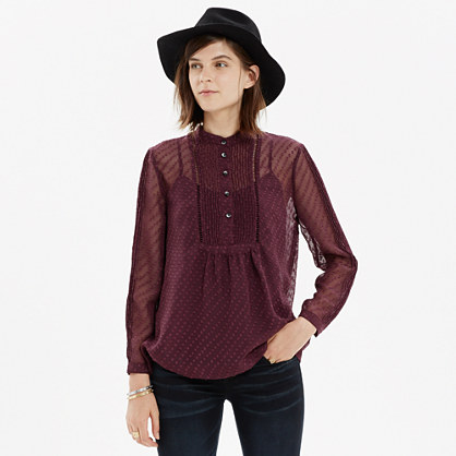 Pintuck Clipdot Blouse