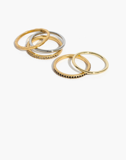 Filament Stacking Rings in vintage gold image 1