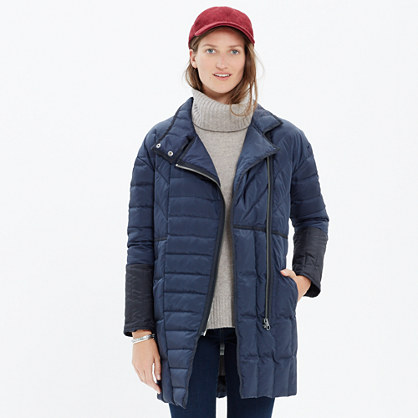 Quilted Down Coat : coats | Madewell